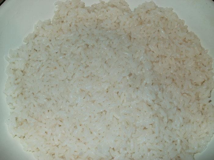 Рис откидным методом